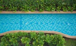 Schöner blauer Swimmingpool der Draufsicht für Hintergrund Lizenzfreies Stockbild