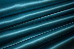 Schöner blauer Vorhang ohne Zeichnung lizenzfreie stockbilder