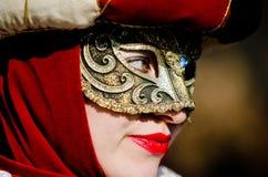 Schöner Blick der Maske in Venedig Lizenzfreies Stockfoto