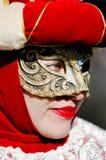Schöner Blick der Maske in Venedig Lizenzfreie Stockbilder