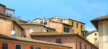 Schöner Blick von Siena Stockfotos
