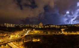 Schöner Blitz im Himmel Lizenzfreies Stockfoto