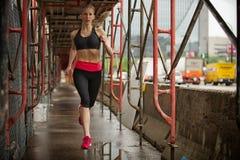 Schöner blonder Eignungsläufer Stockbilder