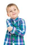 Schöner blonder kleiner Junge Lizenzfreies Stockbild