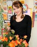 Schöner Blumenhändler Stockbild