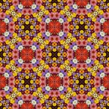Schöner Blumenhintergrund, Effekt eines Kaleidoskops Lizenzfreies Stockfoto