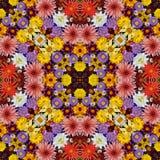 Schöner Blumenhintergrund, Effekt eines Kaleidoskops Stockbild
