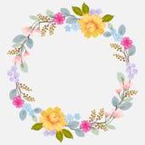 Schöner Blumenkranz mit Raum für Text stock abbildung
