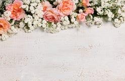 Schöner Blumenrahmen Stockfotos