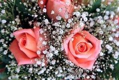 Schöner Blumenstrauß der Blumen an einer Hochzeit Stockfotografie
