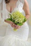 Schöner Blumenstrauß der Braut von den Maiglöckchen lizenzfreies stockfoto