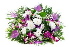 Schöner Blumenstrauß der frischen Blumen stockbilder