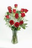 Schöner Blumenstrauß der roten Rosen Lizenzfreies Stockfoto