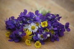 Schöner Blumenstrauß der wilden Blumen Stockbilder