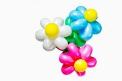 Schöner Blumenstrauß des mehrfarbigen aufblasbaren Ballonisolats Lizenzfreie Stockfotografie