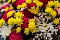 Schöner Blumenstrauß des Stilllebens von Blumen ikebana Geschenk lizenzfreies stockfoto