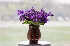 Schöner Blumenstrauß von Acker-Stiefmütterchen Stockfotografie