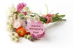 Schöner Blumenstrauß von Frühlingsblumen für Muttertag Lizenzfreie Stockfotografie