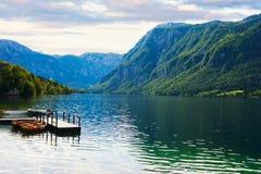 Schöner Bohinj See slowenien Lizenzfreies Stockbild