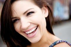 Schöner Brunette mit frischer Haut Lizenzfreies Stockfoto