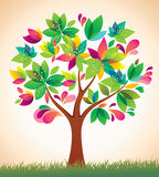 Schöner bunter Baum.