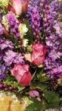 Schöner bunter Blumenstrauß Lizenzfreies Stockbild