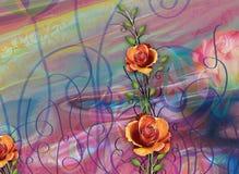 Schöner bunter Hintergrund und Blumenmuster Lizenzfreie Stockfotografie