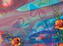Schöner bunter Hintergrund und Blumenmuster Lizenzfreie Stockbilder