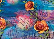 Schöner bunter Hintergrund und Blumenmuster Lizenzfreie Stockfotos