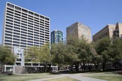 Schöner Burnett Park in der Stadt Fort Worth stockfotografie