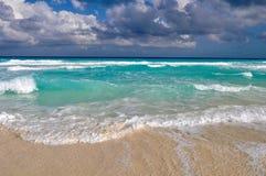 Schöner Cancun-Strand Stockfotografie