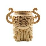 Schöner chinesischer Vase hergestellt vom Elfenbein lizenzfreies stockfoto
