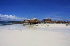Cote d'Or Strand, Praslin, Seychellen Lizenzfreie Stockfotos