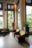 Eine Luxushotel-Lobby lizenzfreies stockbild
