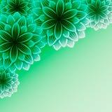 Schöner dekorativer Hintergrund mit Blumen Lizenzfreie Stockfotografie