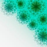 Schöner dekorativer Hintergrund mit grünen Blumen Stockbilder
