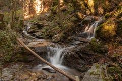 Schöner doppelter Wasserfall Lizenzfreie Stockfotos