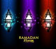 Schöner eleganter Ramadan Kareem Lantern oder Fanous Stockfoto
