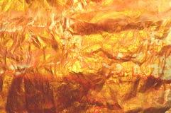 Schöner emty goldener Aquarellhintergrund, zerknitterte Papierbeschaffenheit Lizenzfreie Stockfotografie