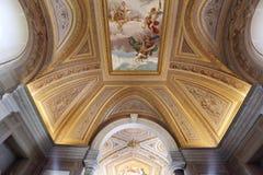 Schöner entworfener Innenraum von der Vatikan-Museum Stockbilder