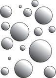 Schöner Entwurf von Blasen mit Schatten lizenzfreie abbildung