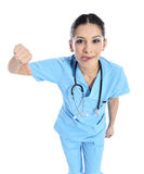 Schöner erfolgreicher Krankenschwesterdoktor - Gesundheitswesenarbeitskräfte Lizenzfreies Stockbild