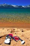 Schöner exotischer Strand für entspannen sich Stockbild