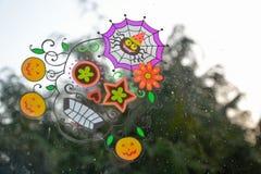 Schöner farbiger Mexikaner-Halloween-Schädel Stockfotografie