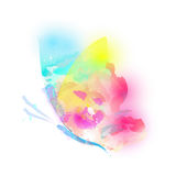 Schöner Farbschmetterling, auf einem Weiß Lizenzfreie Stockbilder