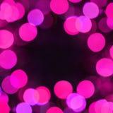 Schöner Feiertags-Hintergrund mit rosa bokeh Lichtern Stockfotos