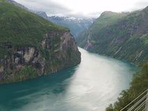 Schöner Fjord Stockfoto
