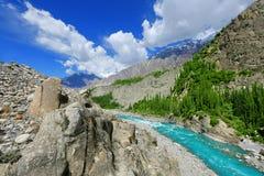 Schöner Fluss an Hunza-Tal Lizenzfreie Stockfotografie