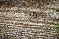 Schöner Fluss-Kiesel-Wand-Hintergrund Nahtloses Kieselsteinflorida Stockfotos