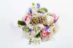 Schöner Frühlingsblumenstrauß von der Spitze Stockfotos